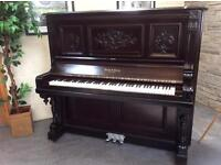 Exquisite Bush & Gerts, Chicago Rococo Victorian Grand Upright Piano - DELIVERY AVAILABLE