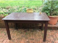 Wooden Garden Bench & Table