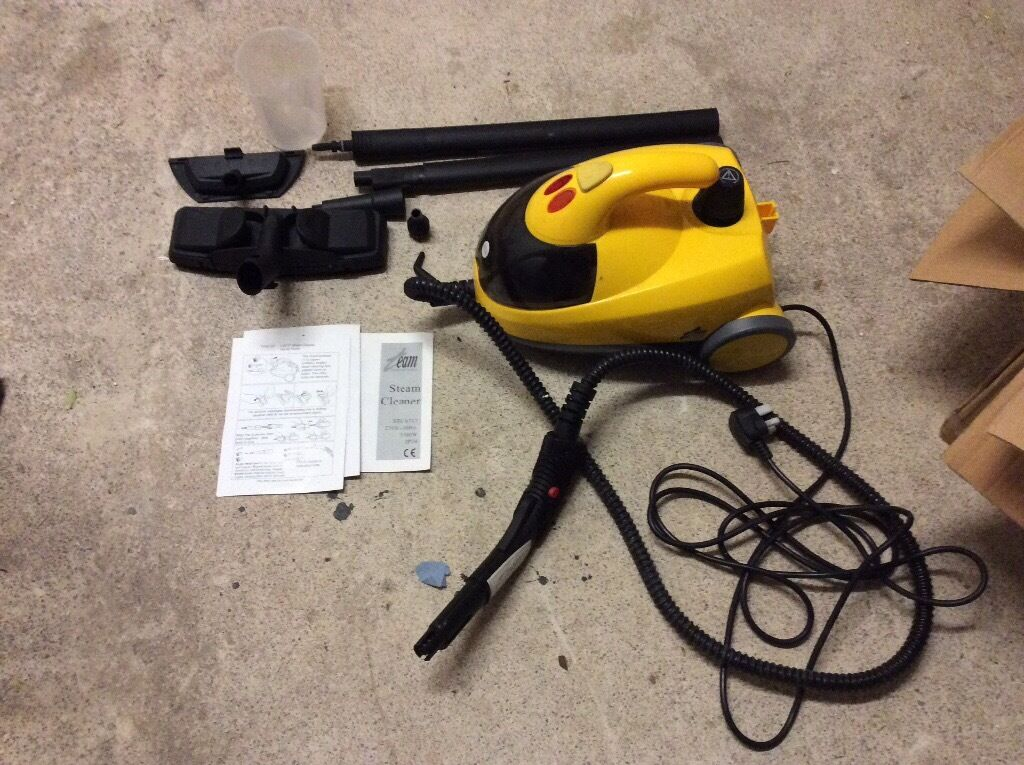 Steam cleaner with all attachments - as new