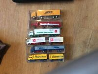 6 unused,boxed lorries fo OO/HO rail layouts.