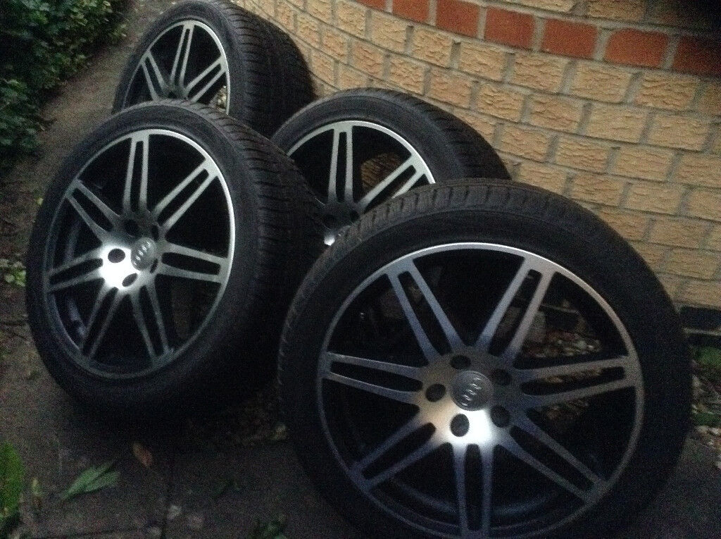 """Set of 18"""" alloy wheels to fit an Audi or VW"""