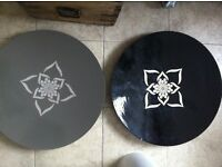 2 Large Ethnic Decorative Distressed Mandala Yoga Trays Plates TK MAXX for Dining or Coffee Table