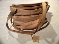 Women's Leather Light Tan Handbag (used) - must go as taking up wardrobe space, hence price