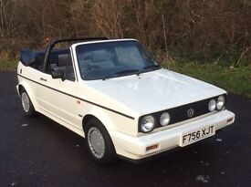 VOLKSWAGEN GOLF CLIPPER 1.8cc CABRIO CONVERTIBLE WHITE, ONLY 75,000 MILES F/S/H F 1989, 5 SPEED