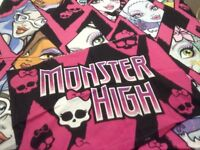 Two sets of children's single bedding, Frozen and Monster High