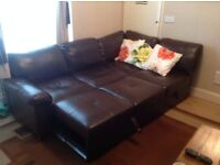 WOW! LEATHER SOFA BED