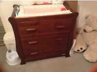 Drawers with changing table
