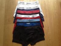 11 pairs of Men's designer underwear - Calvin Klein & Duchamp - Medium