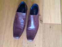 Smart Brown Soft Leather Shoes by Sterling and Hunt, size 9, very good condition.