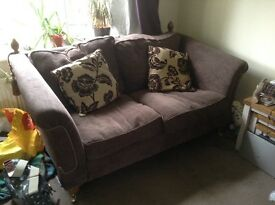 2 brown fabric ScS sofas
