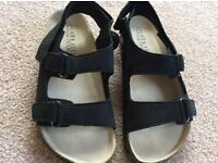 Boys brand new with tags black suede sandals from M&S