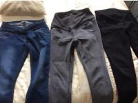 3 pairs of George maternity jeans bundle