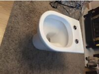 Toilet pan and seat