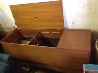 Empty radiogram cabinet (makes good blanket box)