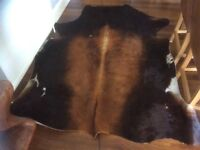 Brown cow hide