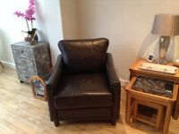 club type brown leather chair