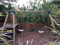 TP WOODEN CLIMBING FRAME WITH EXTRAS