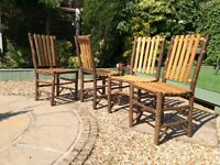 """""""Old hickory"""" rustic dining chairs Shelbyville In. EST. 1899"""