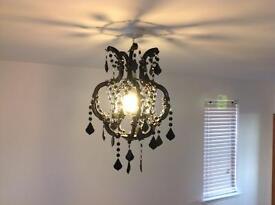 Black bead ceiling light shade pendant
