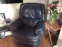 Free - Two black recliner sofas, very comfortable and strong