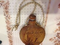 Leather tequila flask