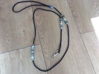 New glass beaded dog leads