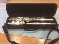 Elkhart flute for beginners & music stand