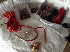 Car amplifier Leads cable kit.