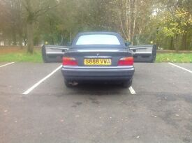Bmw 318i convertible 1998 metallic blue with blue hood registered 24/12/98 3 former owners