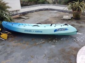Ocean kayak - frenzy with oars,seat pack and wheels