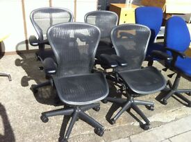 Huge Selection of Herman Miller Aeron Chairs **SIZE'S A / B / C in stock**