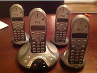 BT FREELANCE XD1500 four phones pack £50 or make an offer.