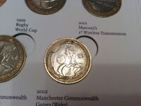 The Wales £2 2002 Commonwealth Games Commemorative Coin - one of the rarest - in great demand.