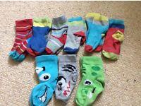Boys M&S socks X 9 pairs - size 3-5.5