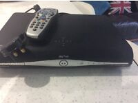 Sky+ HD Box with control and power lead