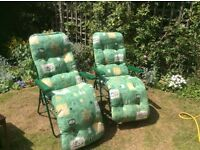 Comfortable garden chairs