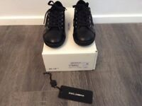DOLCE & GABBANA boys size 12.5 black shoes BRAND NEW & BOXED