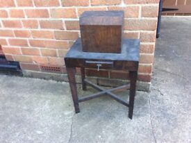 Antique Child's Sewing Machine Table Singer