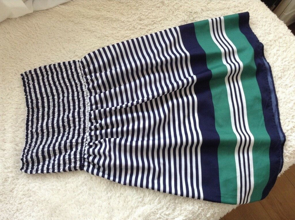 Womens stripe dress size 10/12