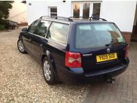 VW Passat Estate. Solid, reliable, spacious estate car. Full MOT. Reluctant sale