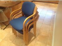 Visitor, meeting room, office chairs X 3
