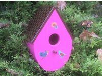 BIRD HOUSE handmade (see all photos for colours available)