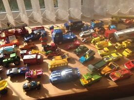 Lots of toy cars most of them in good condition