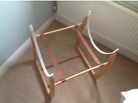 Mamas and Papas wooden rocking stand for Moses basket