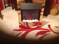 Brass electric fire for sale, great condition