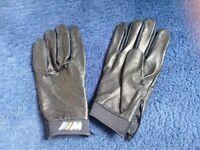 BMW M SPORT Black Leather driving gloves BRAND NEW