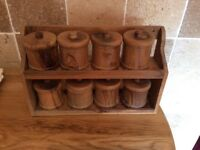 Solid olive wood storage containers