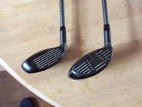 Callaway X2 hot , 1 x 5Deep wood and a 23' rescue club, pick-up only.