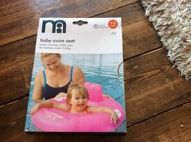 Mothercare baby swim seat 1-2 years pink