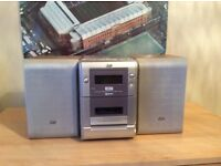 Mini cd/ cassette player and speakers